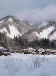 鶴亀荘近くの雪景色
