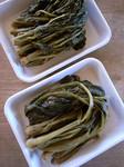 野沢菜と中島菜の漬物