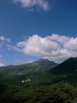 展望台からの眺め「茶臼岳!」